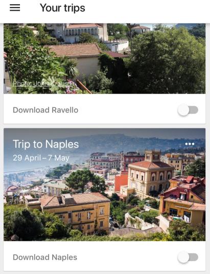 Google Trips Napoli