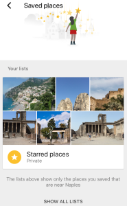 Google Trips - Saved places