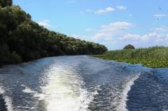 cu barca pe Dunare